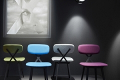 01 X chair by Nika Zupanc at Qeeboo showroom in via Stendhal